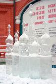 Exposição de escultura de gelo na praça vermelha — Fotografia Stock