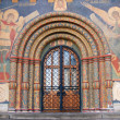 图库照片: Entrance gates to Assumption church. Moscow Kremlin.