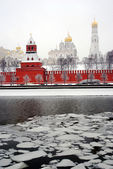 Moscow Kremlin panorama in winter. — Stock Photo