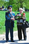 War veterans couple. — Stock Photo