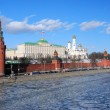 Moscow Kremlin Tower and wall. — Stock Photo