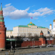 Moscow Kremlin Tower and wall. — Stock Photo #26083661