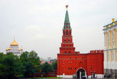 Moscow Kremlin tower with a ruby star. — Stock Photo