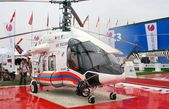 A helicopter at International Aerospace Salon MAKS-2013 — Stock Photo
