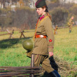 Stock Photo: Womsoldier - reenactor