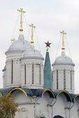 Old orchodox church cupolas — Stock Photo