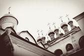 Moscow Kremlin. Vintage style sepia photo. — Stock Photo