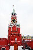 Московский Кремль. Спасская башня, Будильник. — Стоковое фото