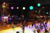 モスクワのゴーリキー公園でアイス スケート リンク — ストック写真