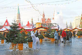 Red Square in Moscow in winter — Stock Photo