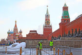 Red Square in Moscow in winter — Foto Stock