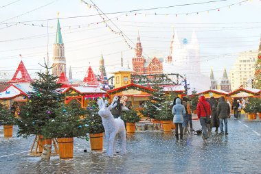Red Square in Moscow in winter