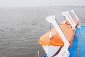 Cruise ship deck — 图库照片
