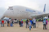 Airbus A380 at International Aerospace Salon MAKS-2013 — Stock Photo