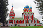 Church of Dimitry on Blood. Kremlin in Uglich. — Stock Photo