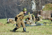 Moscow battle historical reenactment — Stock Photo
