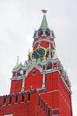 モスクワのクレムリン。道のりで植生塔, 時計. — ストック写真