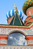 聖バジル大聖堂、赤の広場、モスクワ、ロシア. — ストック写真