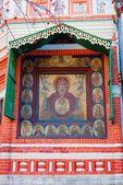 Εικονίδιο στη πρόσοψη του τον καθεδρικό του Αγίου Βασιλείου. — Φωτογραφία Αρχείου