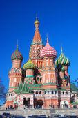St basil Catedral, Praça Vermelha, Moscou, Rússia. — Fotografia Stock
