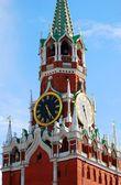 Moscow Kremlin. Spasskaya Tower, clock. — Stock Photo