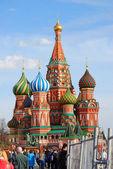 St. basil cathédrale, la place rouge, moscou, russie. — Photo