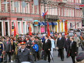 Défilé militaire à saint-Pétersbourg, Russie — Photo