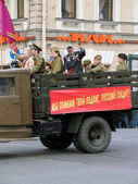Military parade in Saint-Petersburg, Russia — Stock Photo