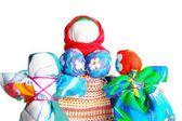 Colorful hand-made dolls. — 图库照片