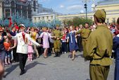 Vitory Day celebration in Moscow — Stock Photo