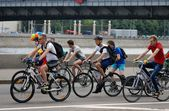 Cycle race in Moscow — Stock Photo