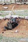 Osovets battle reenactment — Stock Photo