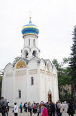Igreja cúpulas em trindade sergius lavra — Foto Stock