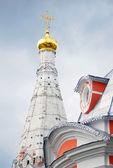 Church Domes in Trinity Sergius Lavra — Stock Photo