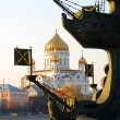 View of the monument (detail) to Russian emperor Peter the Great (Peter First) — Stock Photo #50072955