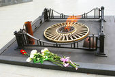 Memorial de guerra chama eterna em yaroslavl, Rússia. — Fotografia Stock