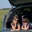 Family car trip on summer vacation — Stock Photo #14005616