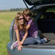 Family car trip on summer vacation — Stock Photo #14535029