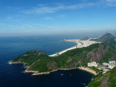 View of Rio de Janeiro and Copacabana beach, Brazil — Stock Photo