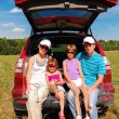 Family car trip on summer vacation — Stock Photo #17614665