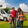 Family vacation in camping, motorhome trip — Stock Photo #17614837