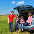 Family travel by car — Stock Photo