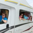 Family vacation, travel by camper — Stock Photo #25817065