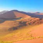 Sunrise dunes in Namibia — Stock Photo