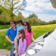Family vacation, RV (camper) travel with kids — Stock Photo