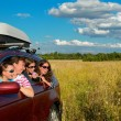 Stock Photo: Family vacation, car trip on summer