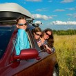 Family vacation, car trip on summer — Stock Photo
