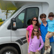 Stock Photo: Family vacation, RV (camper) travel