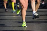 работает гонки марафон — Стоковое фото