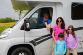Family vacation, RV (camper) travel — Stock Photo